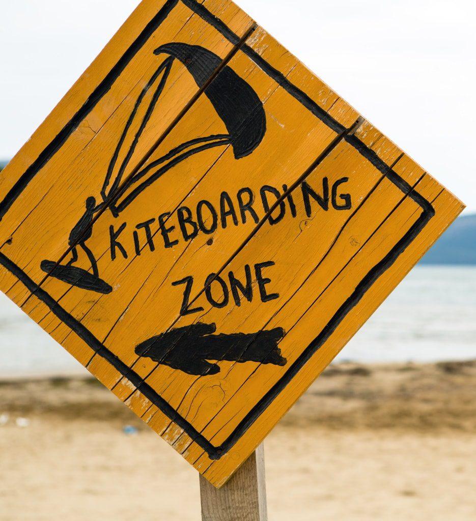kite surf en laguna gazón